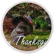 Thanksgiving Turkey Round Beach Towel