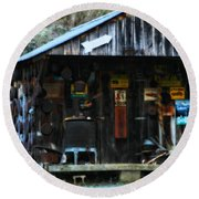 That Old Shack Round Beach Towel