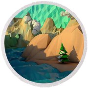 That Perfect Tree Round Beach Towel