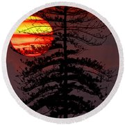 That Was The Day... Round Beach Towel