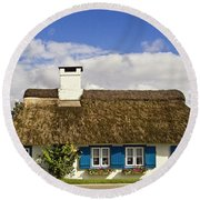 Thatched Country House Round Beach Towel