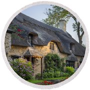 Thatched Roof - Cotswolds Round Beach Towel
