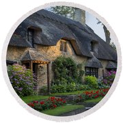 Thatched Roof Round Beach Towel