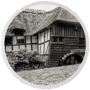 Thatched Watermill 3  Round Beach Towel
