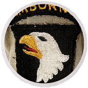 The 101st Airborne Division Emblem Round Beach Towel