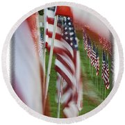 The 10th Anniversary Of 9-11-2001 Forest Park St Louis Mo Img 5708 Round Beach Towel