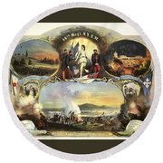 The 14th Regiment New York State Militia Round Beach Towel by Unknown