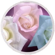 The 3 Graces Round Beach Towel by Joan-Violet Stretch