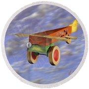 The 356th Toy Plane Squadron 2 Round Beach Towel