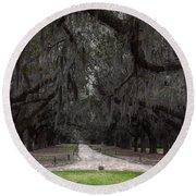 The 99 Oak Trees Round Beach Towel