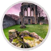 The Abbey  Round Beach Towel by Adrian Evans