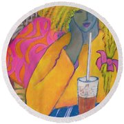 The Absolute Last Straw Round Beach Towel