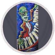 The Acid Jazz Jam Piano Round Beach Towel