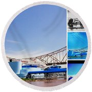 The Admiral Collage Round Beach Towel