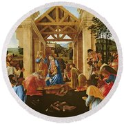 The Adoration Of The Magi Round Beach Towel