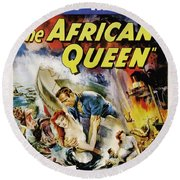 The African Queen  Round Beach Towel