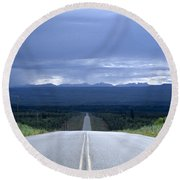 The Alcan Hwy Round Beach Towel