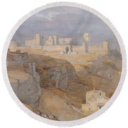The Alcazar Of Carmona, Andalucia Round Beach Towel