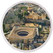 The Alhambra Aerial Round Beach Towel