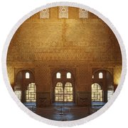 The Alhambra King Room Round Beach Towel