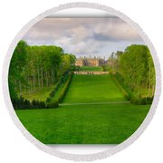 The Allee And The Castle Round Beach Towel