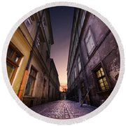 The Alley Of Cracov Round Beach Towel