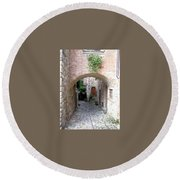 The Alleyway To Home Round Beach Towel