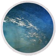 The Alps From Space Round Beach Towel by Anonymous