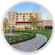 The Americana At Brand Outdoor Shopping Mall In California. Round Beach Towel