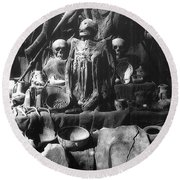 The Ancient Ones Round Beach Towel