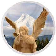 Sounds Of The Angel  Round Beach Towel