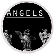 The Angels Of Rome Round Beach Towel