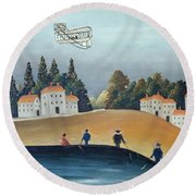 The Anglers, C.1908-09 Oil On Canvas Also See 309520 Round Beach Towel