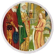 The Annunciation To Joachim And Anne, From The Dome Altar, 1499 Round Beach Towel