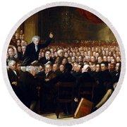 The Anti-slavery Society Convention 1840 Round Beach Towel