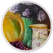 The Antique Pitcher Round Beach Towel by Marlene Book