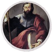 The Apostle Saint James Round Beach Towel