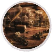 The Apothecary Round Beach Towel by Priscilla Burgers