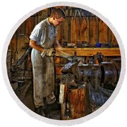 The Apprentice Hdr Round Beach Towel