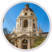 The Arch - Pasadena City Hall. Round Beach Towel