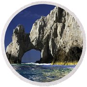 The Arch Cabo San Lucas Round Beach Towel
