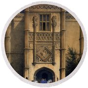 The Arch, Montacute House, Somerset Round Beach Towel