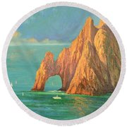 The Arch Of Cabo San Lucas 2 Round Beach Towel