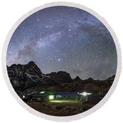 The Arch Of The Milky Way Galaxy Round Beach Towel