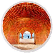 The Arches Round Beach Towel