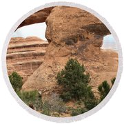 The Arches Of Double O Arch  Round Beach Towel