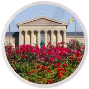 The Art Museum In Summer Round Beach Towel