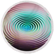 The Art Of Ripples Round Beach Towel