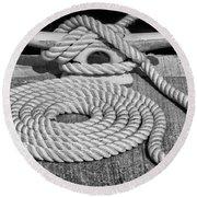 The Art Of Rope Lying Round Beach Towel