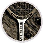 The Art Of Tennis 2 Round Beach Towel
